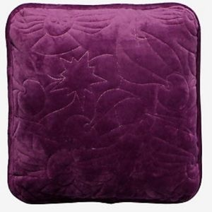 HARRY POTTER Quilted Icons Purple Velour Pillow!!